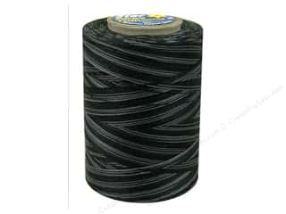 Coats & Clark Star Variegated Mercerized Cotton Quilting Thread 1200 yd. Black Pinstripe