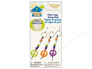 Sulyn Clubhouse Crafts Keychains Peace Sign Grp Pk