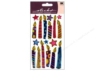 EK Sticko Stickers Sparkler Birthday Candles