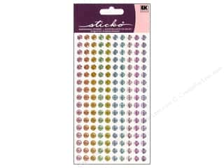 EK Success Dimensional Stickers: EK Sticko Stickers Sparkler Dots Pastels