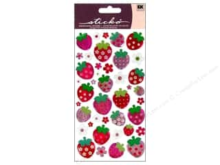 EK Sticko Stickers Sparkler Strawberries