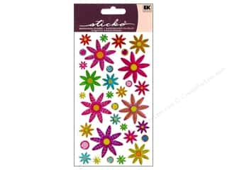 EK Sticko Stickers Sparkler Colorful Daisies
