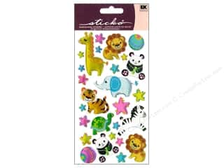 EK Sticko Stickers Sparkler Plush Zoo