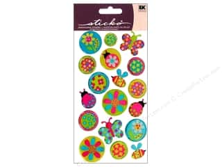 EK Sticko Stickers Sparkler Flowers and Bees