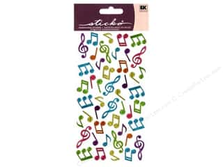 Music & Instruments Stickers: EK Sticko Stickers Sparkler Music Notes