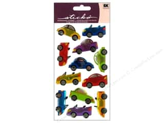EK Sticko Stickers Sparkler Kid Cars