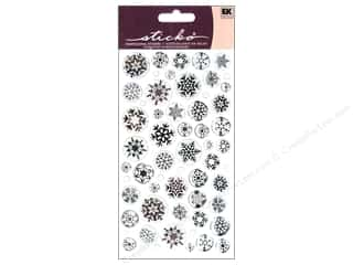 EK Sticko Stickers Sparkler Icy Snowflakes