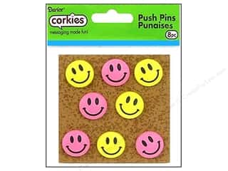 Darice Corkies Push Pin Smiley Face 8pc
