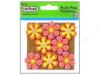 Darice Corkies Push Pin Groovy Flower 8pc