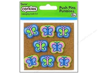 Darice Corkies Push Pin Groovy Butterfly 8pc