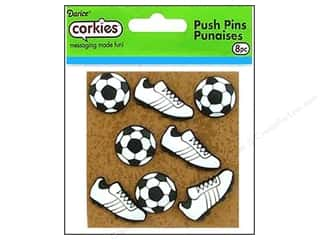 Darice Corkies Push Pin Soccer Ball &amp; Shoe 8pc