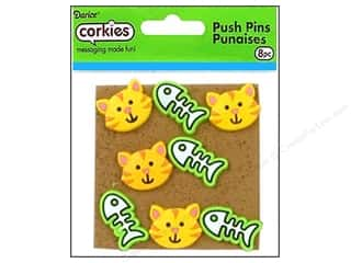 Darice Corkies Push Pin Cat/Fish Bones 8pc