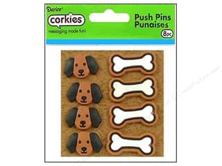 Darice Corkies Push Pin Dog & Bone 8pc