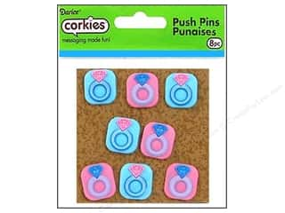 Darice Sports: Darice Corkies Push Pin Diamond Ring 8pc