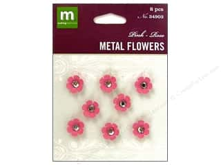 Making Memories Metal Flowers Pink