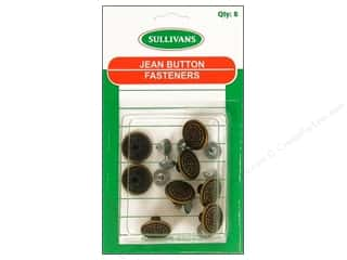 Jean Buttons: Sullivans Jean Button Faper Overall Design 8pc