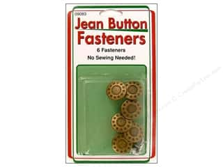 Sullivans Jean Button Fasteners Gold Star Ring 6pc