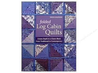 Books Black: C&T Publishing Folded Log Cabin Quilts Book by Sarah Kaufam