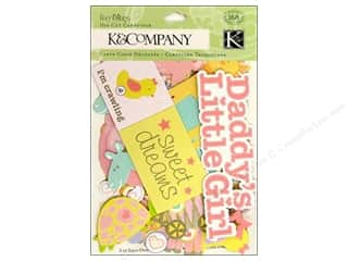 Baby Papers: K&Company Die Cut Cardstock Itsy Bitsy Baby Girl