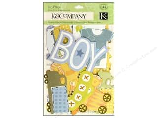 K&amp;Co Die Cut Cardstock Itsy Bitsy Baby Boy