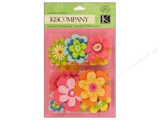 K & Company Dimensional Stickers: K&Company Layered Accents Bright Flowers