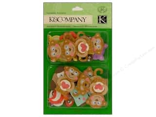 K & Company Dimensional Stickers: K&Company Layered Accents Monkey And Friends
