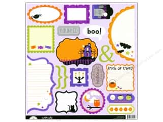 Halloween paper: Doodlebug Cute Cuts Die Cut Spooky Town (12 sheets)