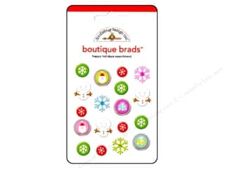 Doodlebug Brads Boutique Happy Holidays 18pc