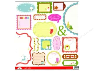 Doodlebug Cute Cuts Die Cut Happy Holidays (12 sheets)
