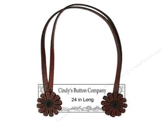 "Cindys Button Purse Strap w/111A Motif 24"" FudgBrn"