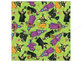 K&Co Paper 12x12 TC Halloween Green Witches (25 sheets)