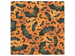 K&amp;Co Paper 12x12 Tim Coffey Halloween Bats (25 sheets)
