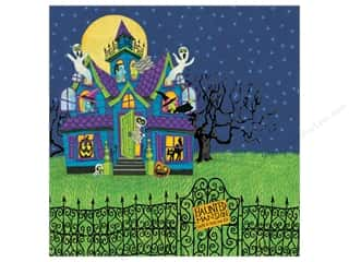 halloween spook-tacular: K&Co Paper 12x12 Tim Coffey Halloween HauntedHouse (25 sheets)