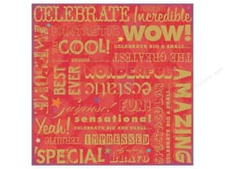 K & Company Papers: K&Company Paper 12x12 Confetti Big Words (25 sheets)
