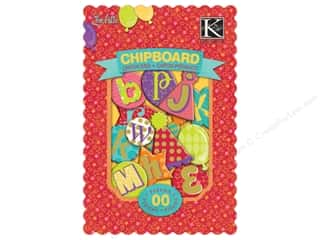 k &amp; company chipboard: K&amp;Co Chipboard Chipbox Confetti Alphabet