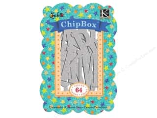 K&amp;Co Chipboard Chipbox Confetti Alphabet Silver