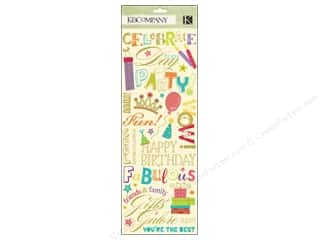 K&Co Rub Ons Confetti Word