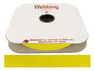Polypropylene Webbing 1 in. Yellow (25 yards)
