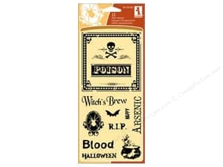 Clearance Plaid Stamps Clear: Inkadinkado InkadinkaClings Clear Stamp Creepy Wine Label