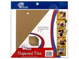 "Paper Accents CYO Chipboard Tiles 6""x 6"" Chip 6pc"