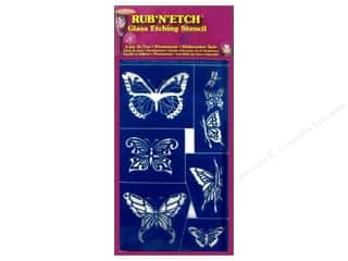 Glass Armour Rub 'n' Etch Stencils: Armour Rub 'n' Etch Stencil Butterflies