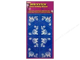 Clearance Blumenthal Favorite Findings: Armour Rub 'n' Etch Stencil Corner 3 Roses