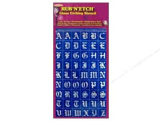 Armour Rub &#39;n&#39; Etch Stencil Old English Alphabet