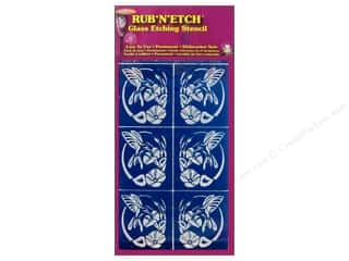 Armour Rub &#39;n&#39; Etch Stencil Hummingbird Oval