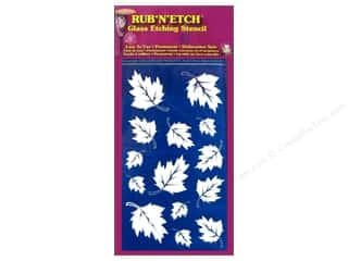 Glass Armour Rub 'n' Etch Stencils: Armour Rub 'n' Etch Stencil Leaves
