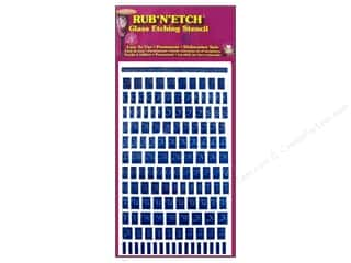 Armour Rub 'n' Etch Stencil Alphabet Upper Case