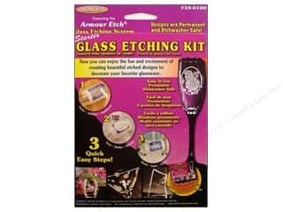 Stencils Projects & Kits: Armour Glass Etching Kit Starter