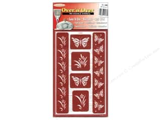Borders inches: Armour Over 'N' Over Stencil Butterfly Border