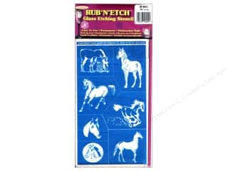 Glass Armour Rub 'n' Etch Stencils: Armour Rub 'n' Etch Stencil Horses