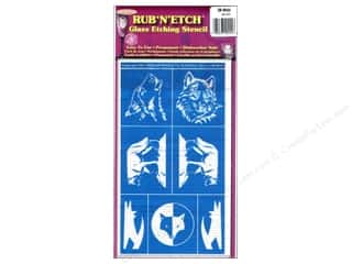 Armour Rub 'n' Etch Stencil Wolf Assorted